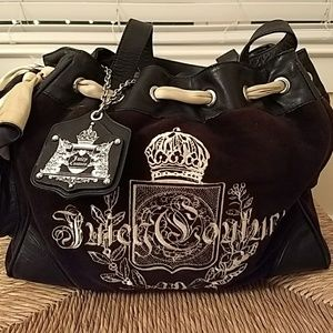Black Velour Juicy Purse