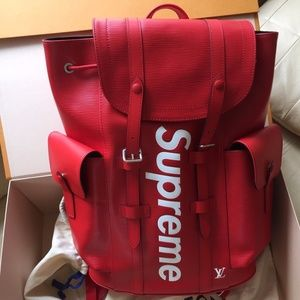 Louis Vuitton x supreme red Kirsten backpack