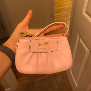Pink Coach Change Purse or Wristlet