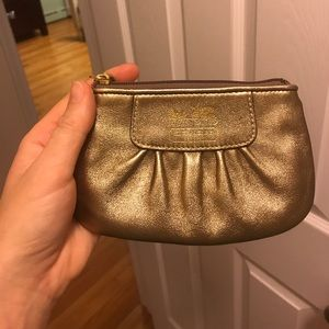 Gold Coach Change Purse or Wristlet