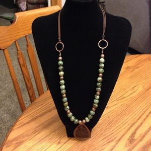 Copper and Genuine Bead Necklace