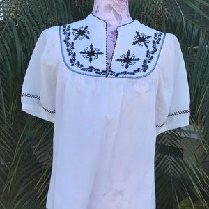 100% cotton embroidered shirt