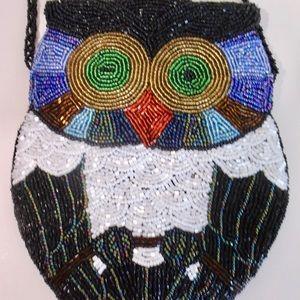 Handbags - SALE!! Beaded Owl Bag UNIQUE!!