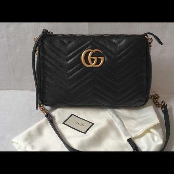 33767ec5132e Gucci Bags | Marmont Zip Cross Body Bag Medium | Poshmark