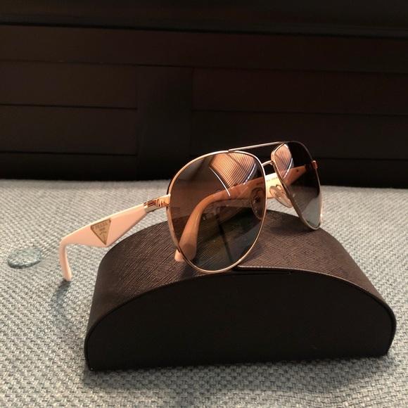 835d8b968690a Prada Double Bar Aviator Sunglasses. M 59ef30cf7f0a050d9301c6b6