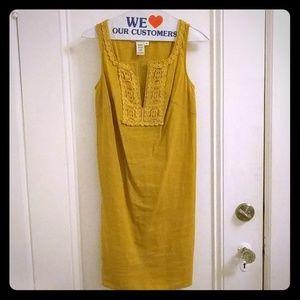 Max Studio retro mustard dress size XS