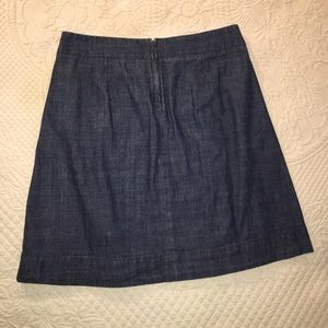 J. Crew Skirts - J Crew Wendy chambray pleated skirt size 4