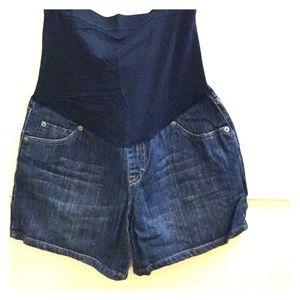 Small maternity jean shorts