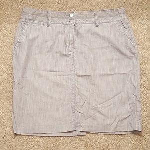 Light Grey Denim Skirt