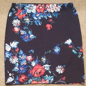 Betsey Johnson Floral Pencil Skirt