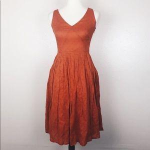 J. Crew Linen V Neck dress size:00