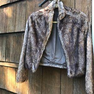 Jackets & Blazers - Faux fur cropped coat