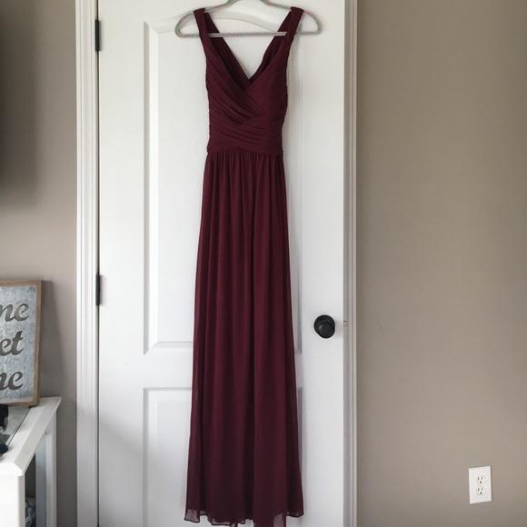 3ad26030a5 David s Bridal Dresses   Skirts - Davids Bridal Bridesmaid dress style  W10974- wine