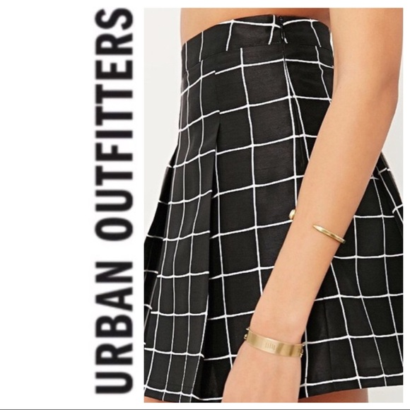 0c9b2fd012 Urban Outfitters Skirts | Black White Grid Skirt | Poshmark