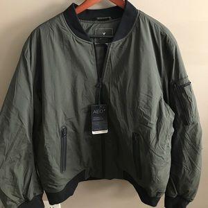 NWT- AEO green bomber jacket