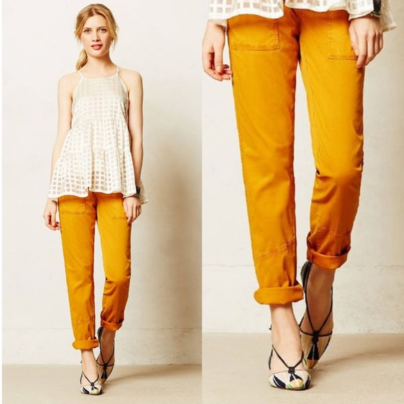 Anthropologie Pants - Anthropologie Hei Hei Darby Moto Roll Up Pants