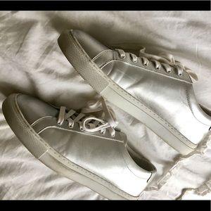 TOPSHOP London silver sneakers