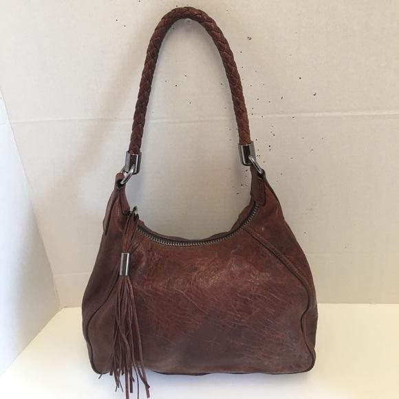 Miu miu Brown leather tassel shoulder bag. M 59ef5eb0f0137dc75e004f39 f91c2c129e026