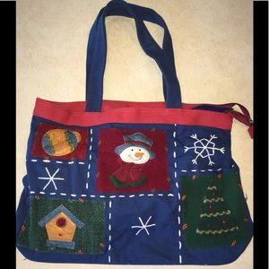 Handbags - 🌻Winter fun zip bag w inside zip and washable🌻