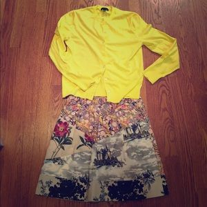 Anthropologie Leifnotes mixed-print skirt