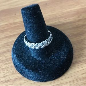 Braid ring, silver plated