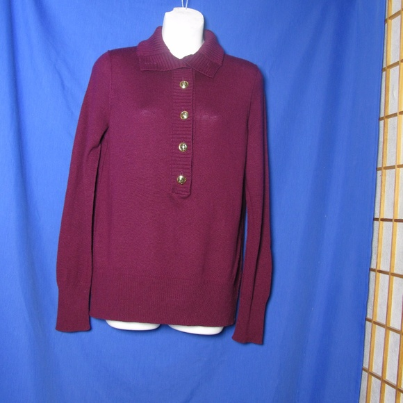 Tory Burch - Final SALE Tory Burch Purple Sweater M Logo Button ...