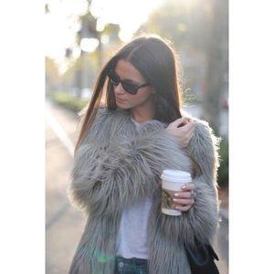 Jackets & Blazers - NO BRAND | Grey Faux Fur Coat