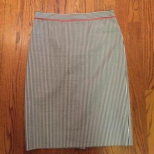J. Crew No. 2 Pencil Skirt in Seersucker