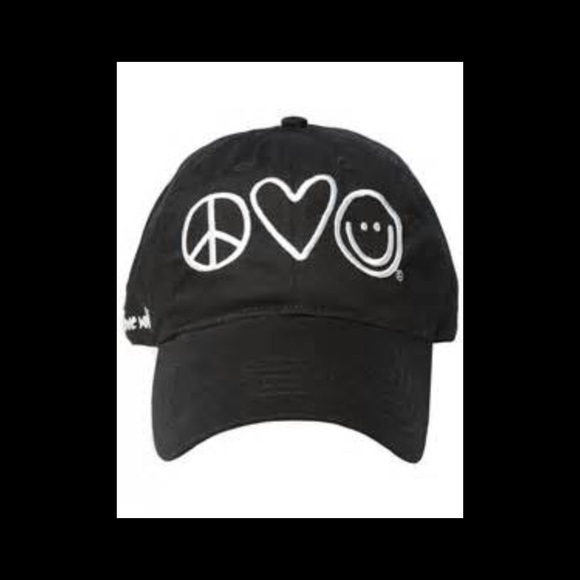 Peace Love World Baseball Cap