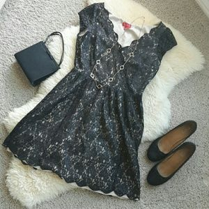 Elle Shimmery Lace Party Dress