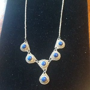 Gorgeous Sterling silver with lapis necklace