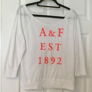Abercrombie off the shoulder tee