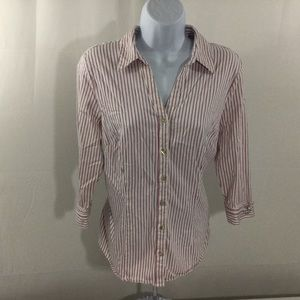 212 Collection Womens Button Front Shirt Size L