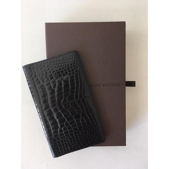 ecb89cf478cc Brand new Louis Vuitton alligator leather wallet