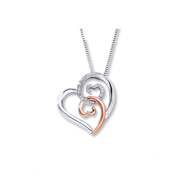 Kay Jewelers Jewelry Open Hearts Necklace Diamond Necklace Poshmark