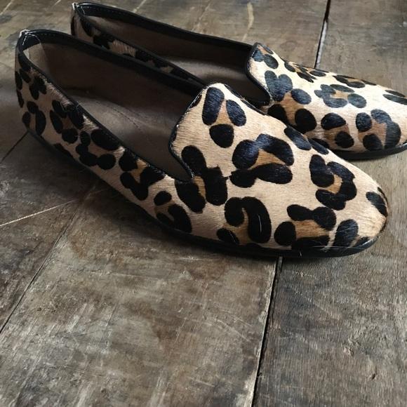e2a920972c23 AEROSOLES Shoes | Betunia Leopard Print Calf Hair Loafers | Poshmark