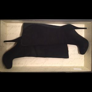 Like New Enzo Angiolini black suede boot
