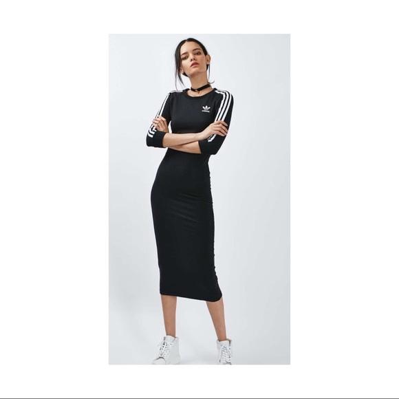 3a4d48e160b Adidas Originals 3 Stripe Maxi Dress Small