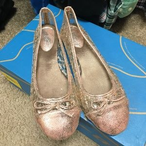 Shoes - Rose Gold Flats