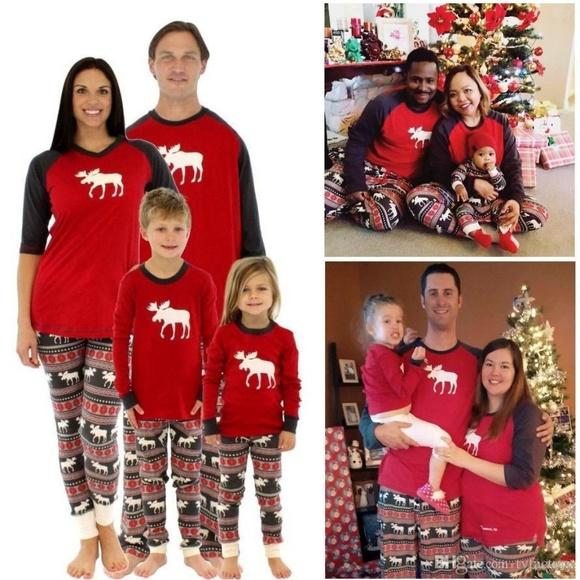 mom sizematching christmas family pajamas pj