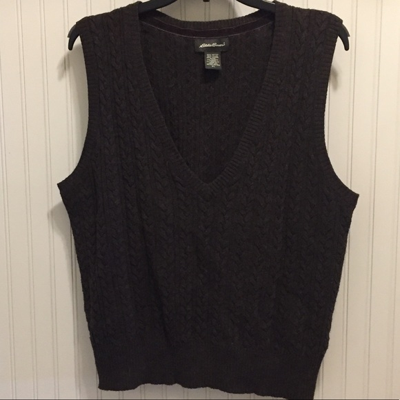 Eddie Bauer Sweaters Cable Knit Sweater Vest Poshmark