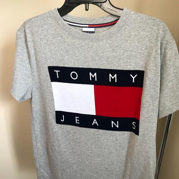 84916a60 Tommy Hilfiger Shirts | Tommy Jeans Vintage Tshirt Grey Sz Small ...
