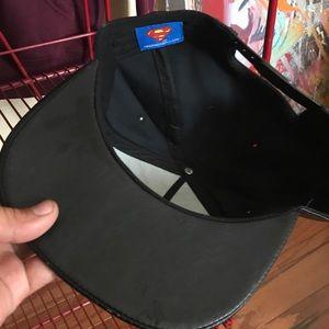 4dfa65112dd096 superman Accessories - Superman black gold leather snapback hat emblem ca