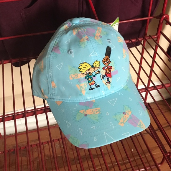 5bb77a44d62 Cool bff hey Arnold dad hat retro Nickelodeon cap