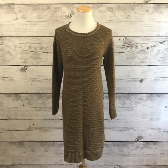 4f413a922eb J Jill Wool Blend Shitake Brown Sweater Dress