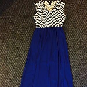 Dresses & Skirts - Black, White & Royal Blue Dress