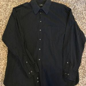 Other - Bundle only! Black and white pin stipe men's shirt