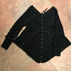 Sweaters - 🆕 Black knit womans sweater with studs LAST ONE