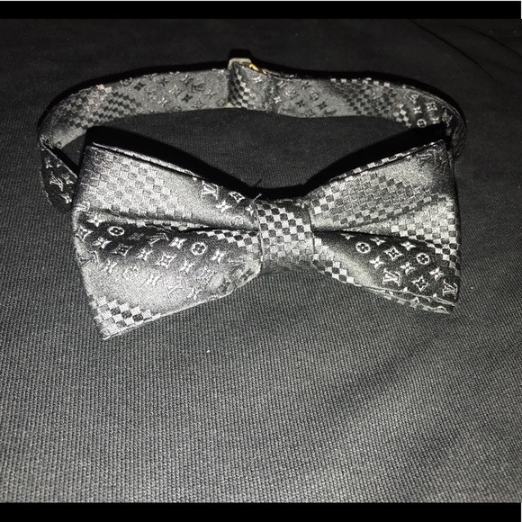 9b2331d45889 Louis Vuitton Accessories | Black And Grey Bow Tie | Poshmark