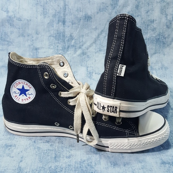 410cdb640db4 Converse Other - Converse Black HEMP Chucks Mens 12 Vintage Rare